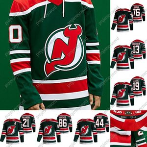 New Jersey Devils Mackenzie Blackwood 2021 Reverse Retro Jersey Nico Herchier Jack Hughes Travis Zajac Miles Wood P.K. Subban Cory Schneider.