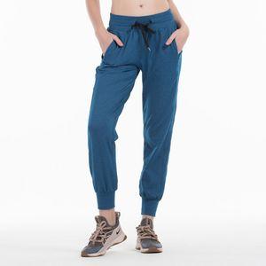 elastic sport Lulu nylon Yoga high outdoor running fitness Harun quick dry Pants woman