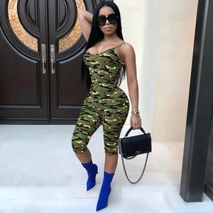 Camouflage Sexy Sleeveless Romper 2019 New Arrivals Camo One Piece Outfit Playsuit Bodycon Jumpsuit Overalls Drop Shipping