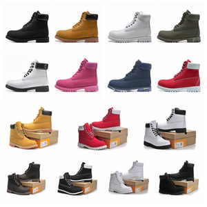 2021 Timberland timberlands timber bottes de pluie femm men boots designer mens womens leather shoes top quality Ankle winter boot cowboy yellow blue black pink hiking work 36-46