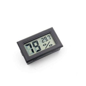 Mini Digital LCD Environment Thermometer New Black White FY-11 Hygrometer Humidity Temperature Meter In Room Refrigerator Icebox GWF4509