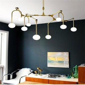 golden chandelier Kitchen Bar Dining room Led Salon spider chandelier molecule Glass Ball Tree Branch Chandelier lamp Fixtures