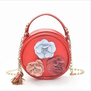 Miúdos Designer Bolsas Mini Saco Flores Redondo Menina Bolsas De Ombro Mulheres Moeda Bolsas Marca Crossbody Saco Pequenos Carteiras Messenger Bags Kke3665