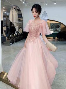 ins creative bridesmaid dress fairy temperament banquet usually can wear a little skirt dress 18-year-old girls birthday rite