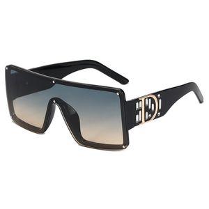 Gafas de sol sin montura de gran tamaño Mujeres grandes tonos de moda Hombres de alta calidad Hombres cuadrados de vidrio de glass de metal femenino Sombras de gradiente de metal UV400 D6933