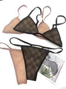 20ss İtalyan Bikini İlkbahar Yaz Yeni Pijama Iç Çamaşırı Çift Mektuplar Bayan Mayo Tops Yüksek Kaliteli Bikini Jacquard 02