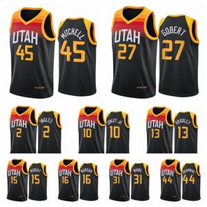 UtahJazzMänner Donovan Mitchell Joe Ingles Rudy Gobert Mike Conley 2020/21 Swingman City Basketball Jersey Schwarz Neue Uniform