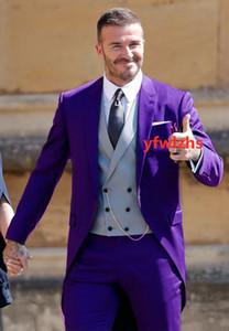 Classic One Button Groom Wedding Peak Lapel Men Muits Mens Wedding Suits Tuxedo Costumes De Pour Hommes Men(Jacket+Pants+Tie+Vest) W693