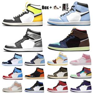 1 OG High Light Smoke Grey Mens Scarpe da basket Shattered Backboard Jumpman 1s Obsidiana UNC bianco a Chicago Delle sneakers da donna