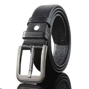2020 Classic mens women designer belts fashion Lichee Pattern Calfskin cintura belt with square steel buckle ceinture real leather belt