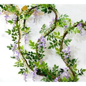 5PCS Long 2M 78.7inch High artificial wisteria flower vine rattan decorative silk home wedding flowers Z1120