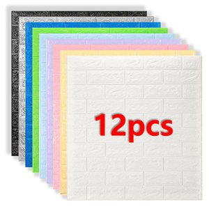3D Wall Stickers Imitation Brick Bedroom Decor Panel Self-adhesive Wallpaper for Living Room Kitchen TV Backdrop Home Decoration Y1120