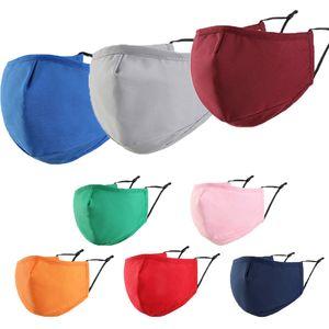 Máscara facial Moda adulto cotoon lavável mantenha máscara de neblina máscara de cor sólida quente para homens e mulheres