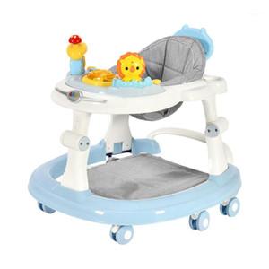 6 dilsiz tekerlekler ile bebek yürüteç Anti rollover multi-fonksiyonel çocuk yürüteç koltuk yürüyüş yardım yardımcısı oyuncak1