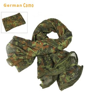 New Tactical Scarf Cotton Camouflage Mesh Scarf Face Scarf Net Cloth Camping Multi Hiking Scarve