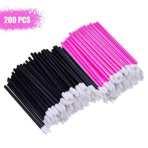 200 Pcs Disposable Lip Brushes Lipstick Gloss Wands Make Up Lip Brush Portable Gloss Applicators Makeup Brushes Tool Kits