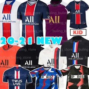 7 MBAPPE PSGSoccer Jersey 2020 2021 Paris ICARDI CAVANI SARABIA MARQUINHOS ANDER HERRERA VERRATTI GANA T.SIA Home Football shirt