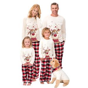 Рождественские наборы пижама для семейного набор одежды Xmas Sweetwurs ночной одежду ночные корышки и брюки родительские детские наряды родительские рождественские рождественские вечеринки W-00458