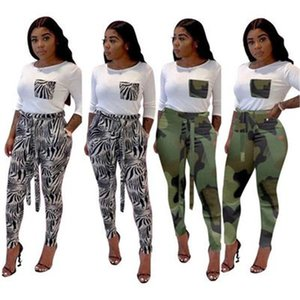 Ladies Splicing Casual 2Pcs Sets Fashion Trend Long Sleeve Round Neck Tops Pant Suits Designer Female Autumn New Slim High Waist Tracksuits