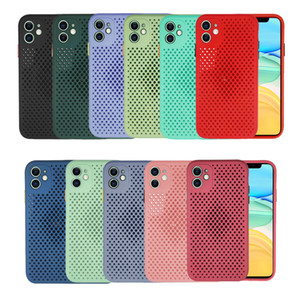 Heat Dispating Cache de cas de téléphone TPU Soft TPU pour iPhone 12 Mini 11 Pro Max 6 7 8 Plus XR X XS