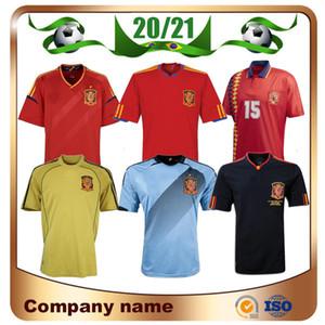 2010 Retro Edition Spanien Home Fussball Jersey 1996 1996 2008 2012 Pique 6 a.inesta David Villa Fabregas Hemd Ramos Silva Football Uniform