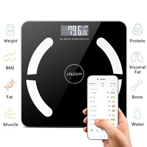 Bluetooth Salle de bain Balance Balance Smart Body Fat Balances électroniques Électronique BMI Digital Fitness Balance 396LB / 180kg Article à chaud