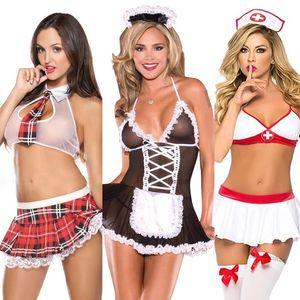 Sexy lingerie mulher porno underwear vestido cosplay uniforme mulheres lingerie set erótico roupa interior plus size babydoll traje erótico enfermeira