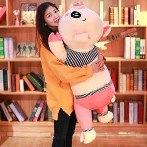 Giant Kawaii Pig Polush Plush Подушка Большая Фаршированная Копилка Кукла Игрушка Спящая Подушки День Рождения Подарочное Украшение 47inch 120см