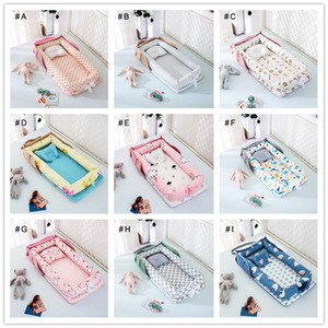 Portable bed baby cribs can be back isolation protection dismountable folding bed shape pillow case cotton crib