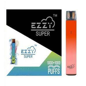 Ezzy Super 2 In 1 Design Disposable Device Vape Pen Starter Kits 2000 Puff 900mAh 6.5ml Pod Prefilled Vape Pen VS Kangvape Onee Bang Bar
