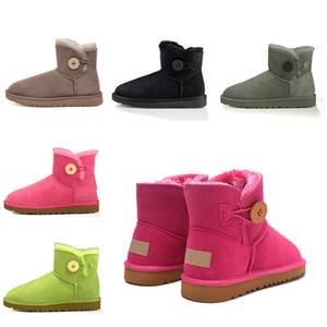2021 новый дизайнер классический WGG короткий Бейли лук высокая кнопка триплет Австралия женские женские ботинки зимние снежные ботинки меховой пушистый австралийский I6ET #