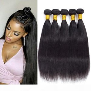 Brazilian Virgin Straight Hair 5 pcs Grade 8a Unprocessed Virgin Peruvian Straight Human Hair Weaves Bundles Indian Straight Hair Wefts