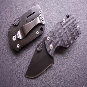 Boke QQ Маленькая Черная Свинья 440C 54HRC G10 Ручка Открытый Выживание Кемпинг Охота Охота Дикий подарок Складной Нож EDC Инструменты