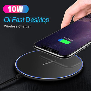 10W Fast Qi Wireless Charger Chargering Portable designed slim wireless charger for iphone samsung All Qi Devices with Retail Box