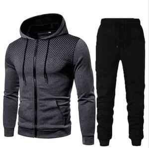 2020 Горячий причинно-следственный дизайнер Colorblock Sports Sportman Sportman jogging костюм мужской тренировочный тренажерный зал тренировочный тренер топы + брюки кофты