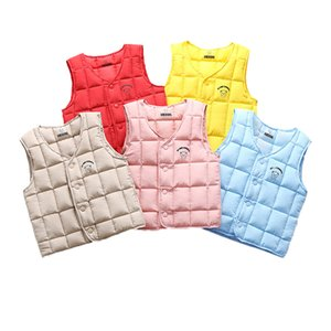 Autumn Warm Down Baby Girl Waistcoat Kids Outerwear Vests Fashion Children Clothing Spring Boys Girls Jackets Vest Q1203