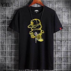 T-shirt spedizione gratuita Estate New High Quality Uomo Casual Manica Corta O-Collo 100% T-shirt in cotone Uomo Brand Bianco Bianco Tee Shirt F-16