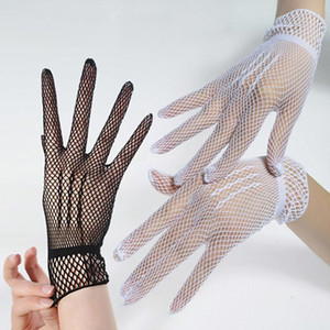 High Quality Women Summer UV-Proof Driving Dance Costume Lace Gloves Mesh Fishnet Gloves Cute Patchwork Mittens Guantes