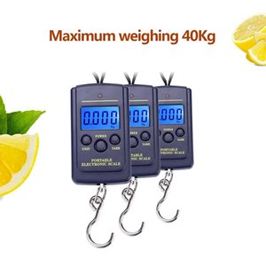 40KG 10G Portable Mini Hand Held Digital Hanging Scale Suitcase Travel Electronic Weighting Luggage Scale Fish Hook Balance LLA264