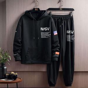 Casual bir takım elbise erkek spor koşan Kore yakışıklı 2020 yeni moda marka ile ilkbahar ve sonbahar