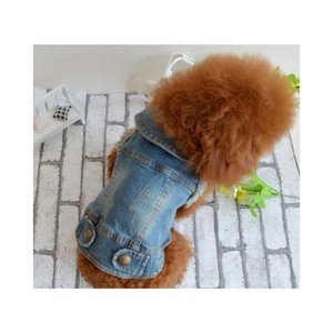 Apparel Pet Supplies Home & Garden Drop Delivery 2021 Eco-Friendly Summer Puppy Dog Vest Denim Jacket Costume Top Fashion Jeans Clothes For S