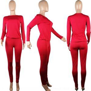 4FNV Women039; S Bekleidung Slim Trainingsanzüge Sports Sweatshirt Casual Trompete Hosenanzüge Set Joggen Zwei Teil Neuankömmlinge