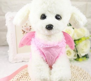 Summer Pet Small Dog Cat Harness pearl Princess Angel Wing Lead Leash set For Small Medium Dogs Pet Vest Harness
