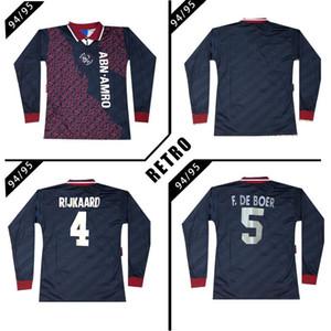 Ajax manica lunga 1994 1995 Retro calcio jersey di distanza Camicia classica vintage antico camicia di calcio # 15 kluivert # 4 rijkaard # 10 litmanen