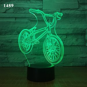Car Acrylic 3D Hologram Lamp 7 Color Change Night Light Baby Touch Switch Colored lights LED USB Desk lamp Atmosphere lamp D30