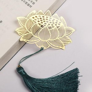 Metal Leaf Bookmark For Books Retro Chinese Style Lotus Book Marks Vein Bookmarks School Office Supply Creative Stationery Gift H bbyDTX