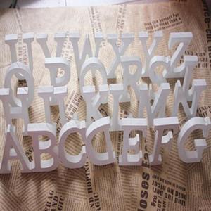 1 pz 8 cm fai da te freestanding legno lettere di legno lettere di legno alfabeto bianco festa di compleanno festa decorazioni per la casa personalizzate Nome design BWE3425