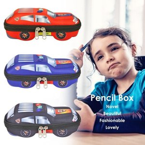 Durable Pencil Box EVA Pencil Cases Bags Boys Car Shaped Large Capacity Boxes Pupil School Supplies Best Gifts for Children