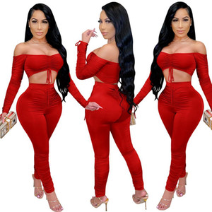 two piece set tracksuit women 2 piece sets womens outfits crop top stacked leggings fall clothes two pieces outfits dropshipping C0122