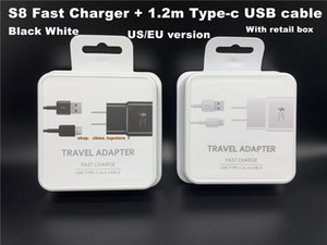 DHL 2in1 5V 2A US EU Plug 15W Fast Charging Travel adapter Wall Fast Charger + 1.2M Type C Usb Data Cable 1.2m type-c cable With retail box